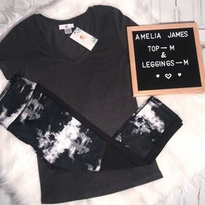 Amelia James outfit size medium NEW LEGGINGS TOP